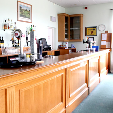 The well stocked bar in the Drumoig Golf Hotel
