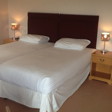 Double room in lodge at Drumoig Golf Hotel