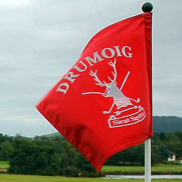 Close up of Flag Pole on Drumoig Golf Course