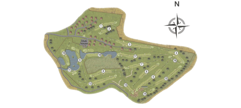 Drumoig Golf Course Map