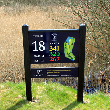 Information Board at the eighteenth tee Drumoig Golf Course